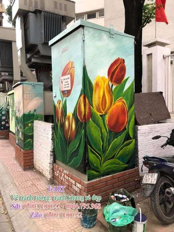 Dịch vụ vẽ tranh tường, vẽ tranh trên kính, vẽ bốt điện, vẽ tranh tường trang trí, vẽ tranh tường giá rẻ, vẽ tranh tường hoa lá, vẽ tranh nghệ thuật