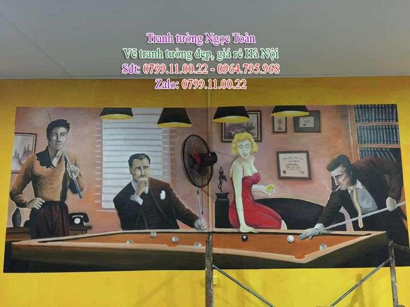 Dịch vụ vẽ tranh tường, vẽ tranh tường phòng game, vẽ tranh tường quán bida, vẽ tranh tường khu vui chơi, vẽ tranh tường giải trí