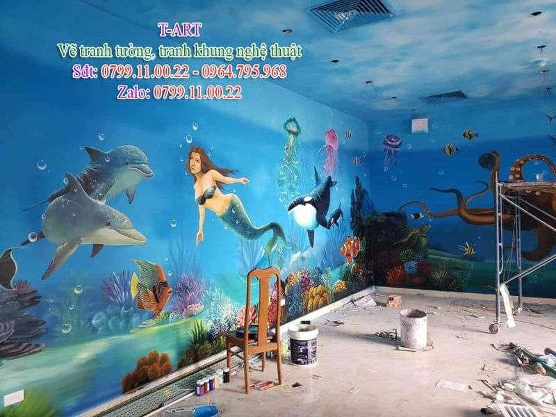 Dịch vụ vẽ tranh tường, vẽ tranh tường đại dương, vẽ tranh tường biển, vẽ tranh tường cafe, vẽ tranh tường quán ăn, vẽ tranh tường phong cảnh