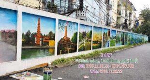 Dịch vụ vẽ tranh tường, vẽ tranh tường phong cảnh, vẽ tranh tường đường phố, vẽ tranh tường trên phố