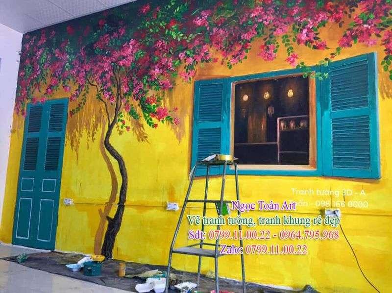 Dịch vụ vẽ tranh tường, vẽ tranh tường góc phố 3D, vẽ tranh tường phố cổ, vẽ tranh tường cafe, vẽ tranh tường quán ăn