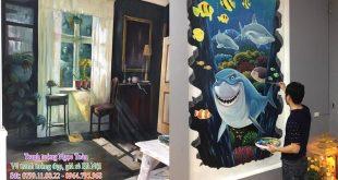 Dịch vụ vẽ tranh tường Hà Nội, họa sĩ vẽ tranh tường Hà Nội, vẽ tranh tường giá rẻ, vẽ tranh tường đẹp, báo giá vẽ tranh tường Hà Nội