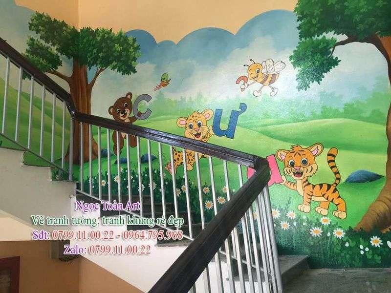 Dịch vụ vẽ tranh tường, vẽ tranh tường mầm non, vẽ tranh tường trung tâm tiếng Anh, vẽ tranh tường tiểu học, vẽ tranh tường phòng học