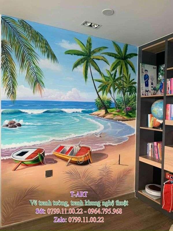 Dịch vụ vẽ tranh tường, vẽ tranh tường phong cảnh biển