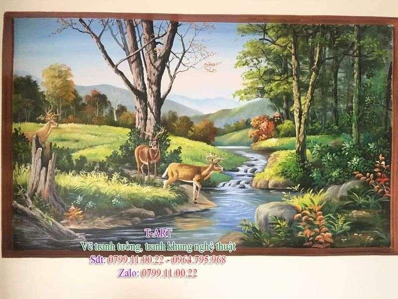 Dịch vụ vẽ tranh tường, vẽ tranh tường phong cảnh, vẽ tranh tường phòng khách, vẽ tranh tường cafe, vẽ tranh tường quán ăn