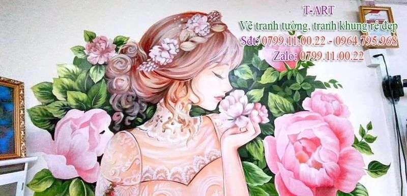 Dịch vụ vẽ tranh tường nghệ thuật, vẽ tranh tường Spa, vẽ tranh tường Nail, vẽ tranh tường Barber, vẽ tranh tường thẩm mỹ viện, vẽ tranh tường hoa lá