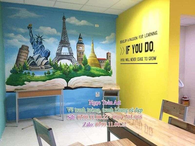 Dịch vụ vẽ tranh tường, vẽ tranh tường văn phòng, vẽ tranh tường công ty, vẽ tranh tường sáng tạo, vẽ tranh tường phòng làm việc